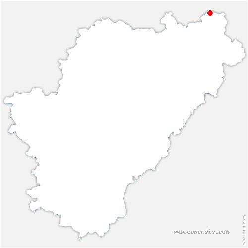 carte de localisation de Oradour-Fanais