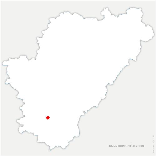 carte de localisation de Poullignac