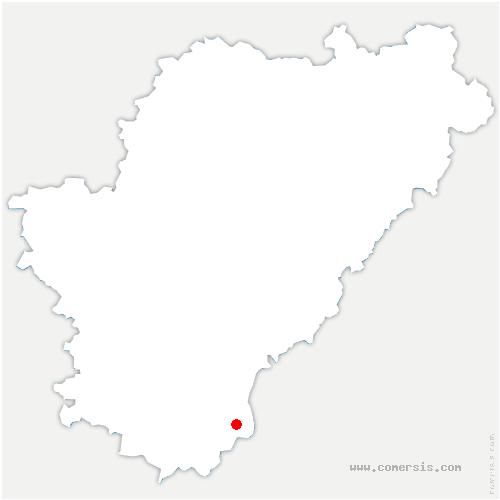 carte de localisation de Saint-Séverin