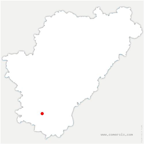 carte de localisation de Sainte-Souline