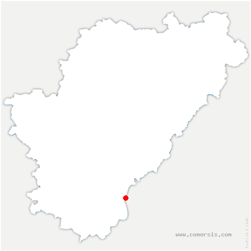 carte de localisation de Salles-Lavalette