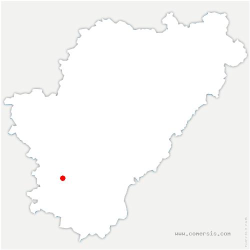 carte de localisation de Salles-de-Barbezieux