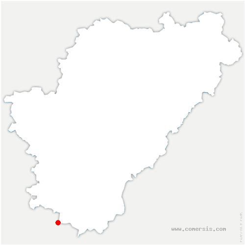 carte de localisation de Sauvignac