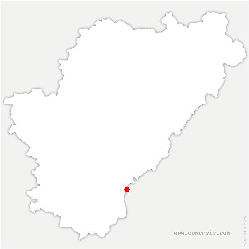 carte de localisation de Vaux-Lavalette
