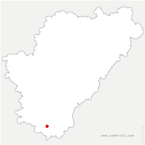 carte de localisation de Yviers