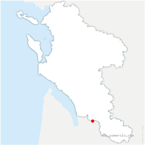 carte de localisation de Boisredon