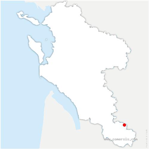 carte de localisation de Boresse-et-Martron