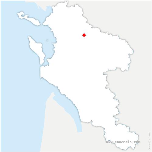 carte de localisation de Breuil-la-Réorte