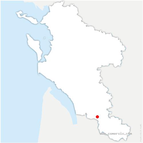 carte de localisation de Chamouillac