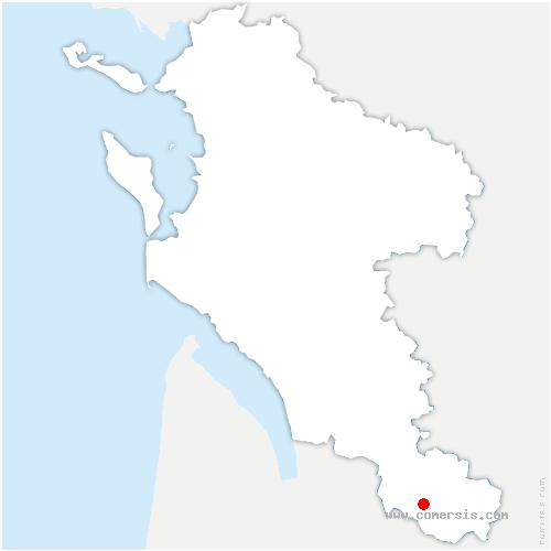carte de localisation de Clérac