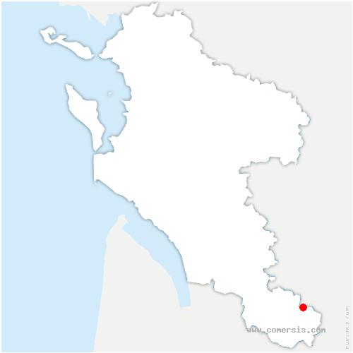 carte de localisation de Genétouze