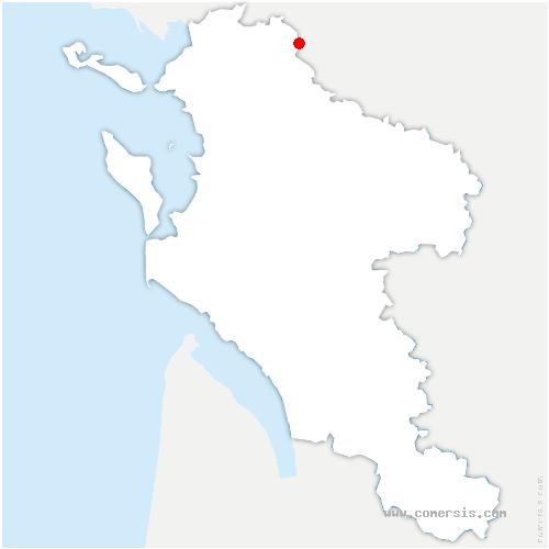 carte de localisation de Grève-sur-Mignon
