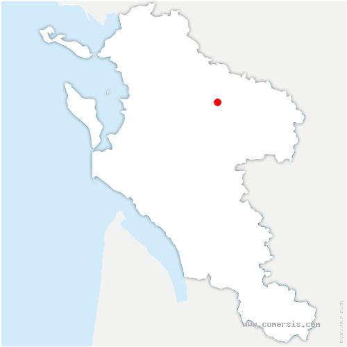 carte de localisation de Landes