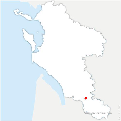 carte de localisation de Montendre