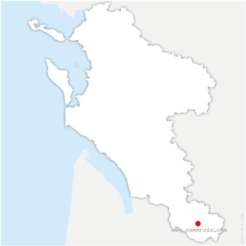 carte de localisation de Montguyon