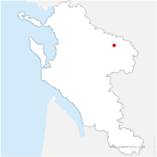 carte de localisation de Nuaillé-sur-Boutonne