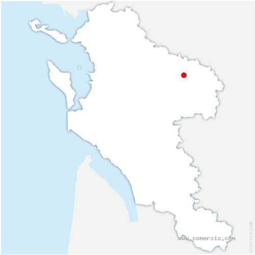 carte de localisation de Paillé