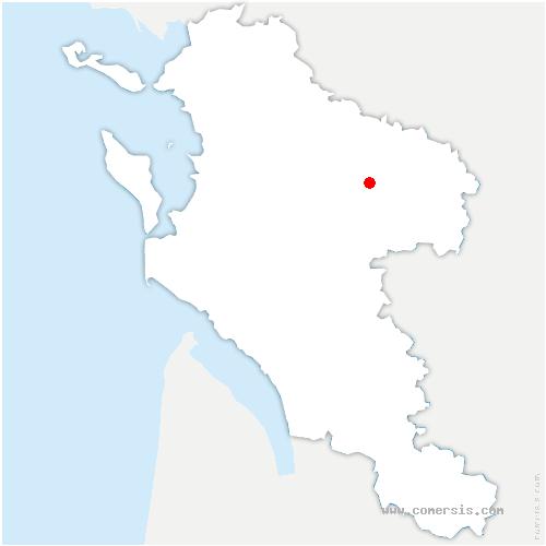 carte de localisation de Poursay-Garnaud