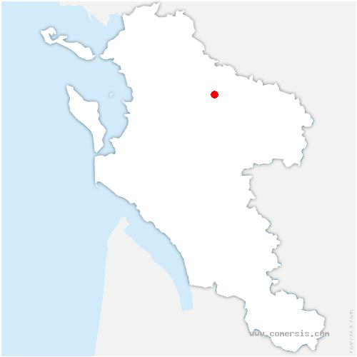 carte de localisation de Puyrolland