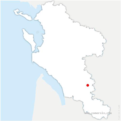 carte de localisation de Réaux-sur-Trèfle