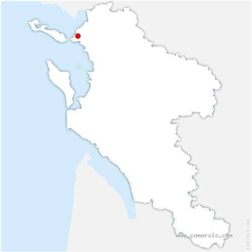 carte de localisation de la Rochelle