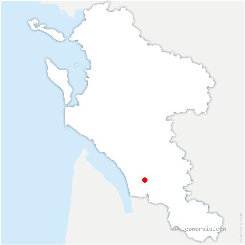 carte de localisation de Saint-Ciers-du-Taillon