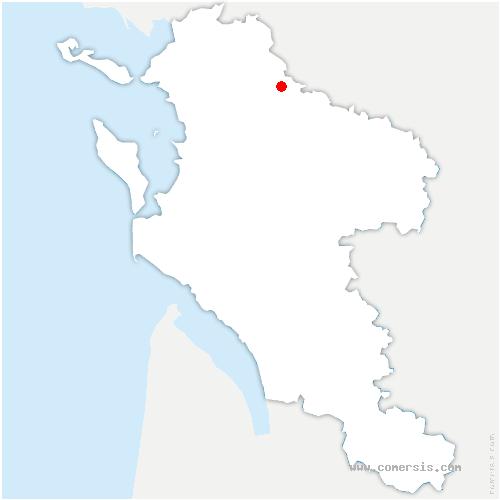 carte de localisation de Saint-Georges-du-Bois