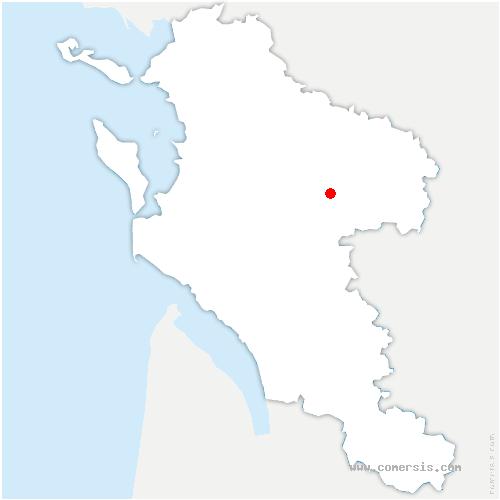 carte de localisation de Saint-Hilaire-de-Villefranche