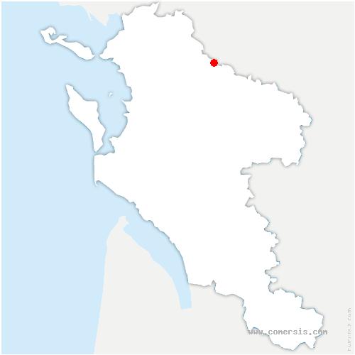 carte de localisation de Saint-Saturnin-du-Bois