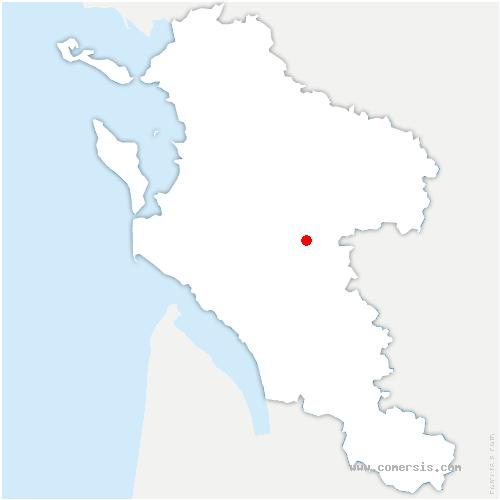 carte de localisation de Saintes