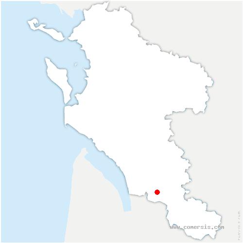 carte de localisation de Salignac-de-Mirambeau