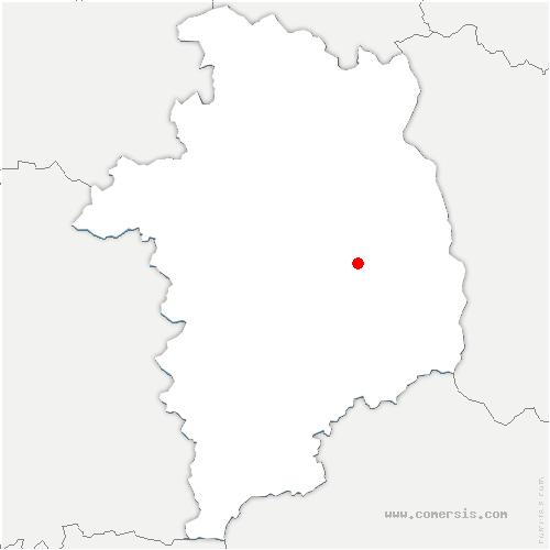 carte de localisation de Baugy