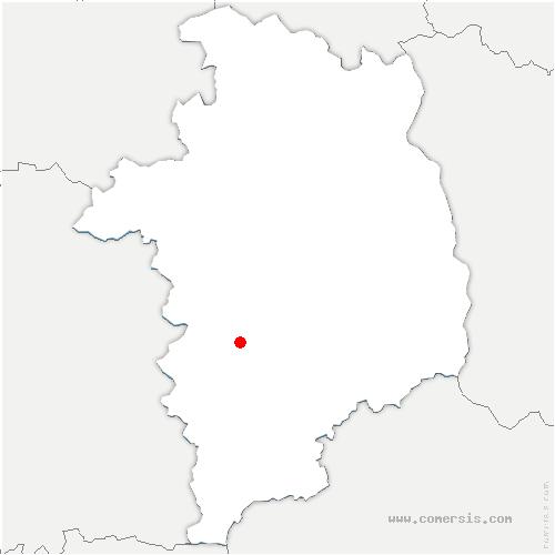 carte de localisation de Corquoy