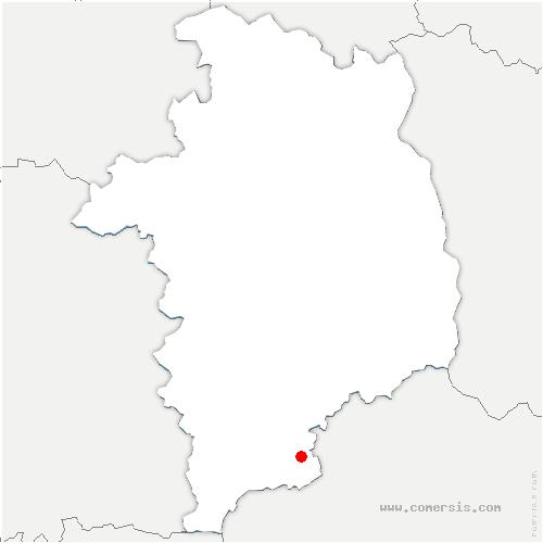carte de localisation de Épineuil-le-Fleuriel