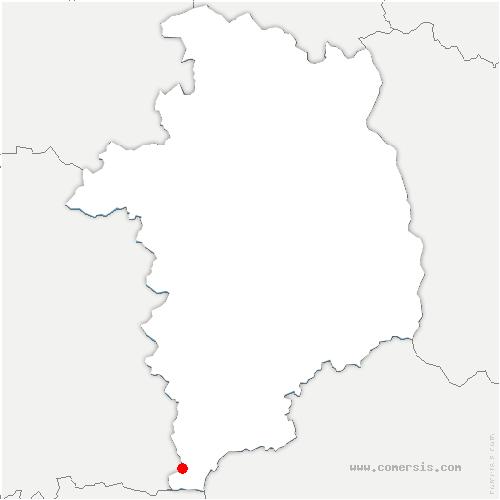 carte de localisation de Saint-Priest-la-Marche