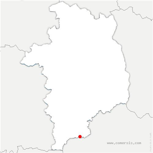 carte de localisation de Saint-Vitte