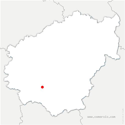 carte de localisation de Albignac