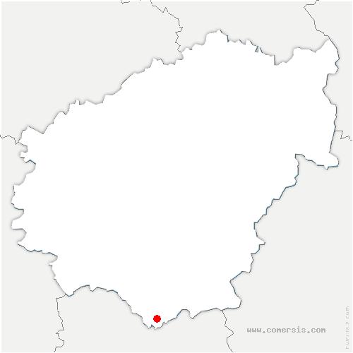 carte de localisation de Astaillac