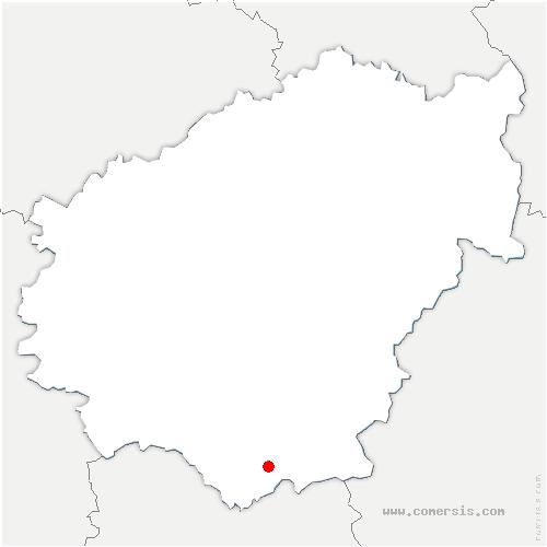 carte de localisation de Bassignac-le-Bas