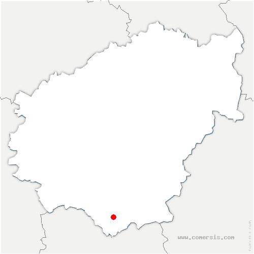 carte de localisation de Beaulieu-sur-Dordogne