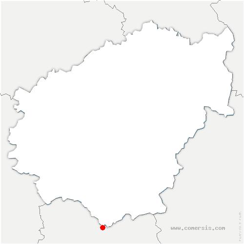 carte de localisation de Bilhac