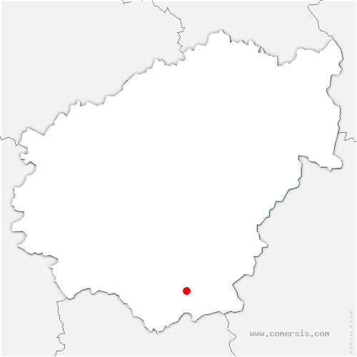 carte de localisation de Chapelle-Saint-Géraud