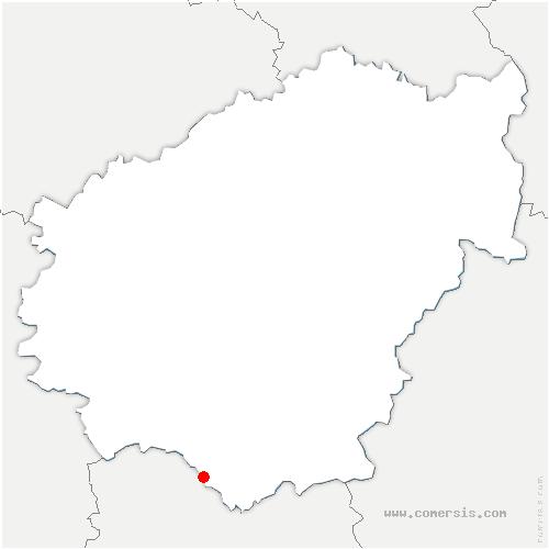 carte de localisation de Chapelle-aux-Saints