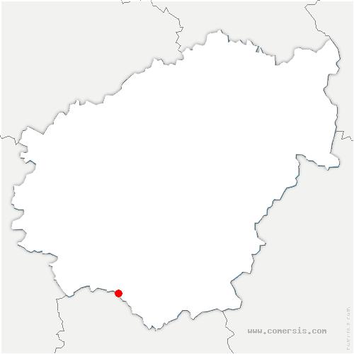 carte de localisation de Chauffour-sur-Vell