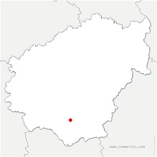 carte de localisation de Chenailler-Mascheix