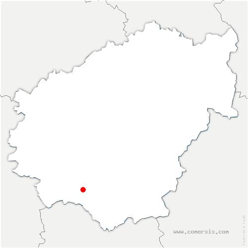 carte de localisation de Collonges-la-Rouge