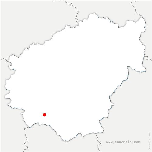 carte de localisation de Cosnac