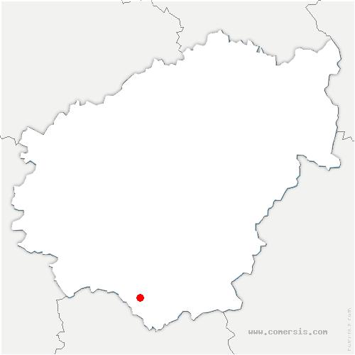carte de localisation de Curemonte