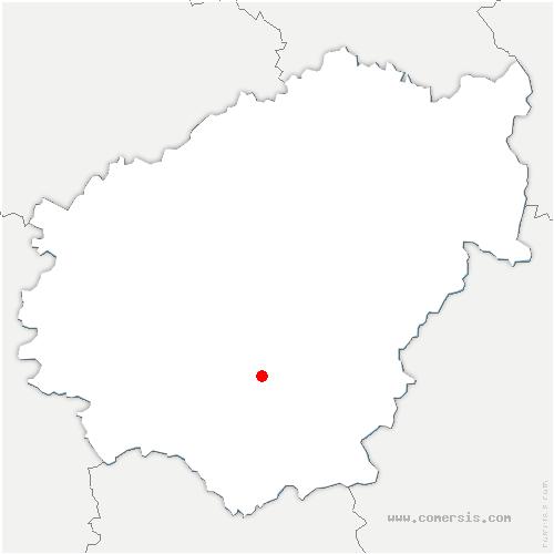 carte de localisation de Lagarde-Marc-la-Tour