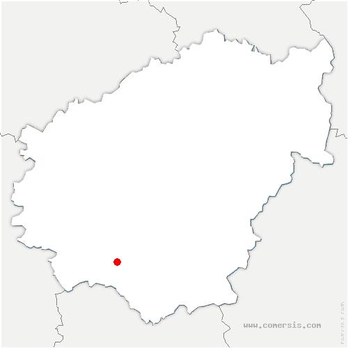 carte de localisation de Lagleygeolle
